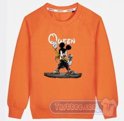 Queen Freddie Mercury Mickey Mouse Graphic Sweatshirt