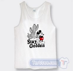 Stay Golden Mickey Mouse Graphic Tank Top