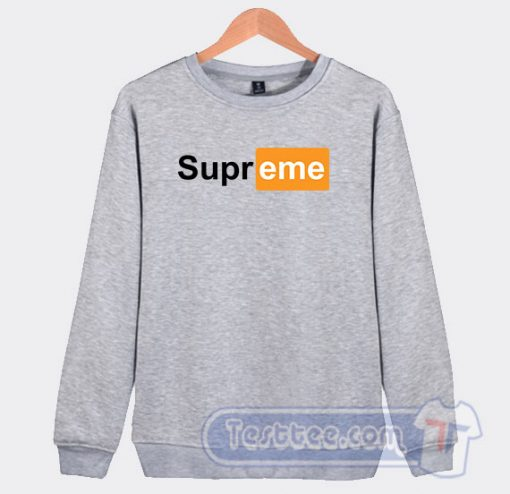 Supreme Pornhub Graphic Sweatshirt