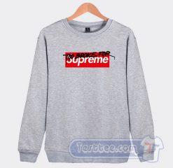 Too Broke For Supreme Muschi Kreuzberg Graphic Sweatshirt