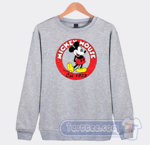 Vintage Mickey Mouse Est 1928 Graphic Sweatshirt