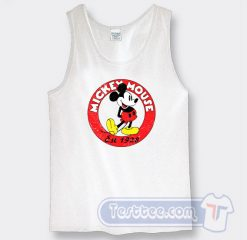 Vintage Mickey Mouse Est 1928 Graphic Tank Top