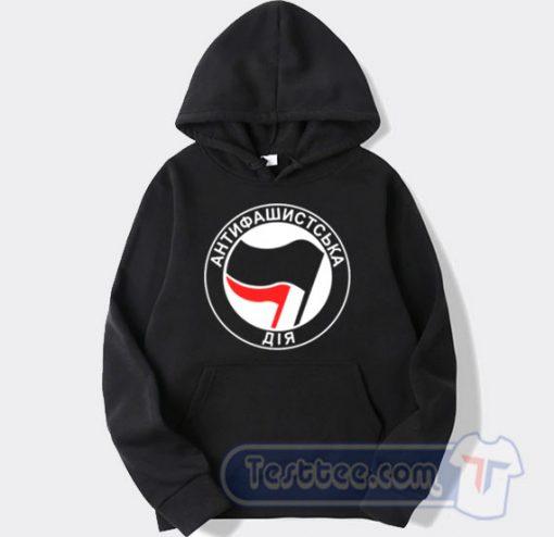 Antifa Antifascist Logo Ukraine Hoodie