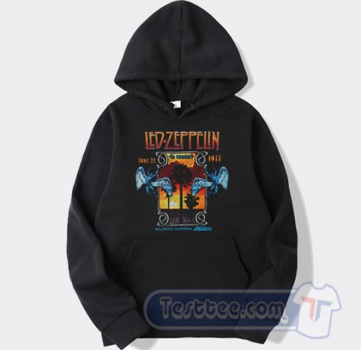 Led Zeppelin In Concert Inglewood California Hoodie