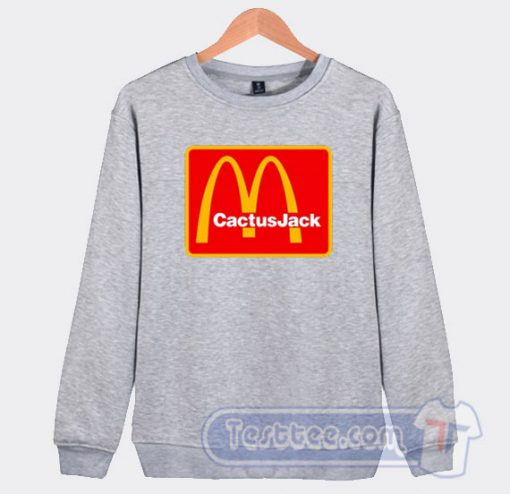 Cheap Travis Scott Cactus Jack X McDonald's Sweatshirt