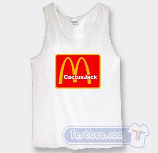 Cheap Travis Scott Cactus Jack X McDonald's Tank Top
