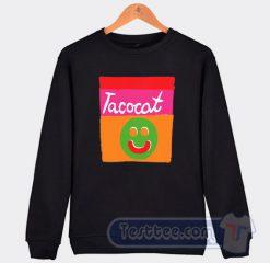 Cheap Tacocat Smile Striped Sweatshirt