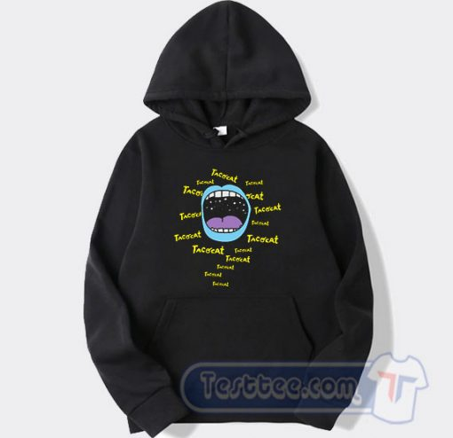 Cheap Mouthy Blue Tacocat Band Hoodie