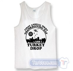 Thanks Giving Day WKRP Turkey Drop Tank Top