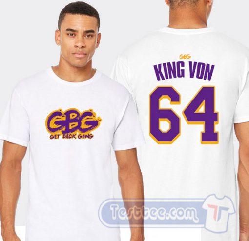 Cheap Get Back Gang King Von Tee
