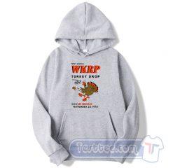 WKRP Turkey Drop With Les Nessman Hoodie