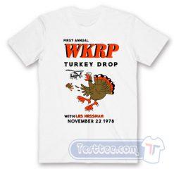 WKRP Turkey Drop With Les Nessman Tee