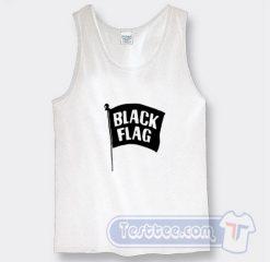 Cheap Miley Cyrus Tank Top Black Flag Logo