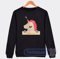 Cheap Unicorn Ethereum Sweatshirt